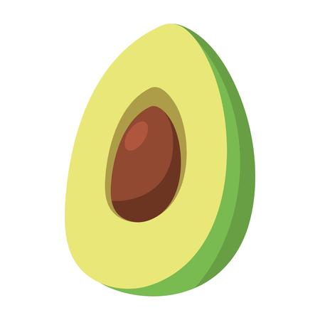 delicious mexican food avocado cartoon vector illustration graphic design