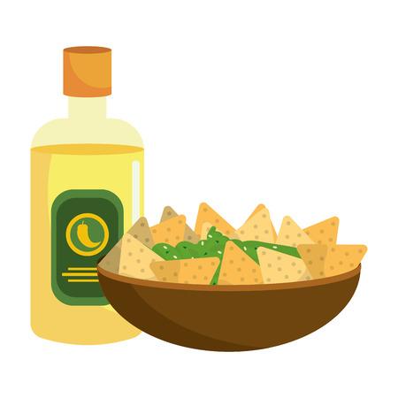 delicious mexican food cartoon vector illustration graphic design Banque d'images - 112632527