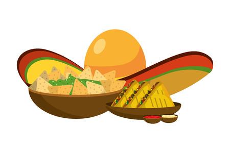 delicious mexican food cartoon vector illustration graphic design Banque d'images - 112632546