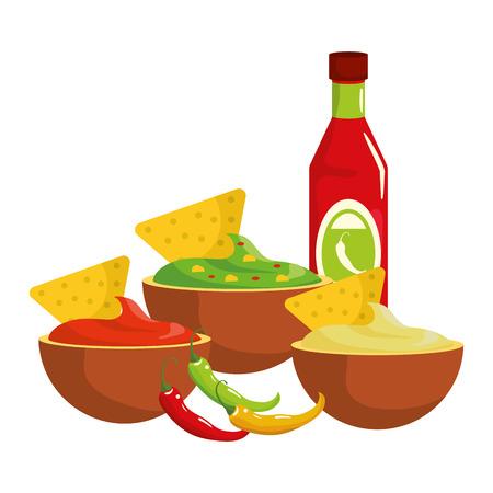 delicious mexican food cartoon vector illustration graphic design Banque d'images - 112632552