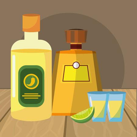 mexican icon tequila cartoon vector illustration graphic design