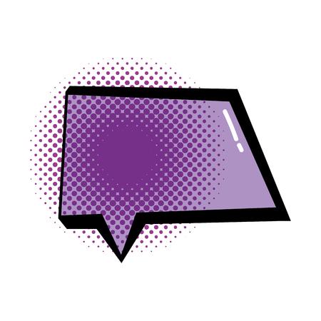 speech bubble pop art style vector illustration design Illusztráció