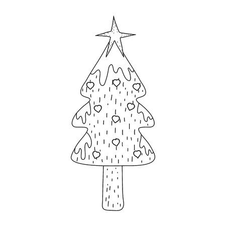 merry christmas tree icon vector illustration design