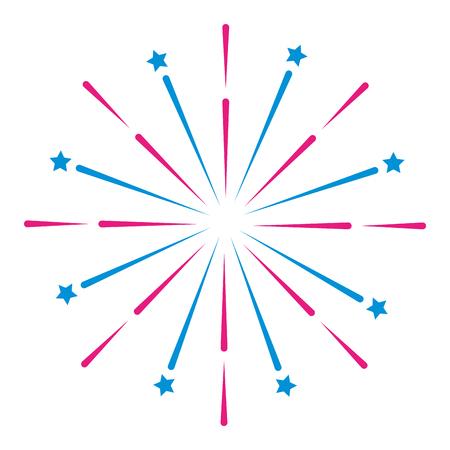 bright fireworks cartoon vector illustration graphic design