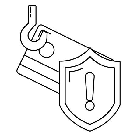 security system cartoon vector illustration graphic design Illustration