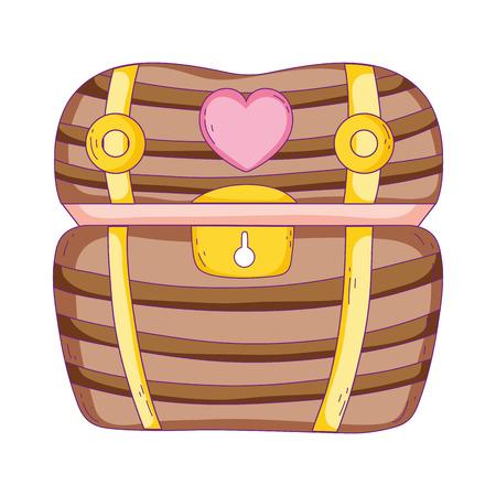 treasure chest isolated icon vector illustration design
