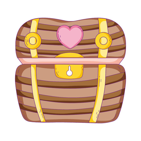 treasure chest isolated icon vector illustration design