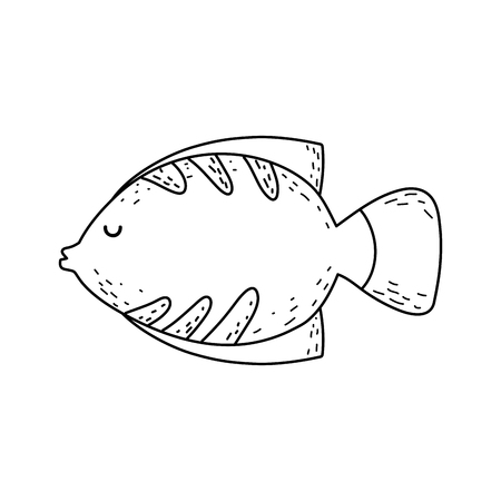 cute fairytale fish icon vector illustration design Stock Illustratie