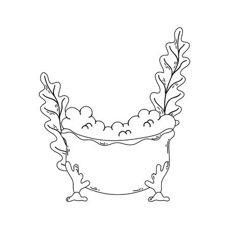 bathtub with seaweed icon vector illustration design Foto de archivo - 127192882