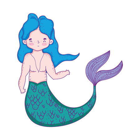 male mermaid fairytale character