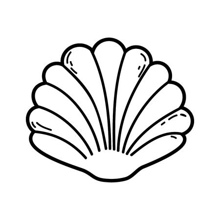 Diseño decorativo del ejemplo del vector del icono aislado de la cáscara
