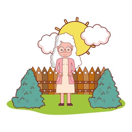 cute grandmother cartoon vector illustration graphic design Illustration