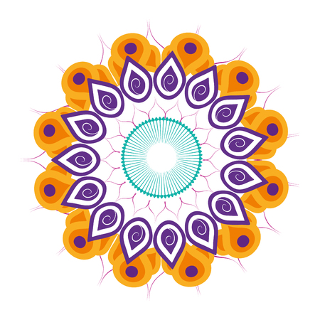 Mandala buddhist symbol isolated vector illustration graphic design