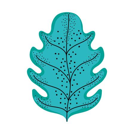 leaf plant isolated icon vector illustration design  イラスト・ベクター素材