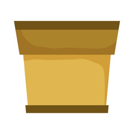 houseplant ceramic pot empty vector illustration design