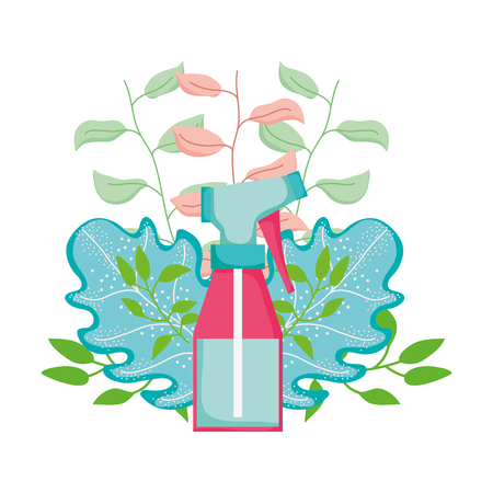 spray bottle with floral decoration Illustration