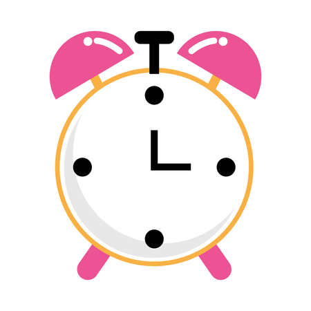 time clock cartoon vector illustration graphic design