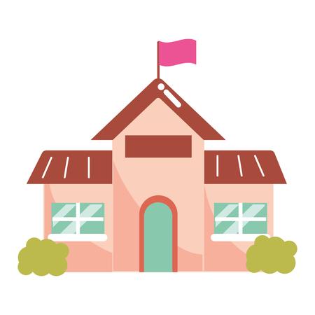 elementary school cartoon vector illustration graphic design