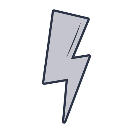 thunder energy cartoon vector illustration graphic design Illustration