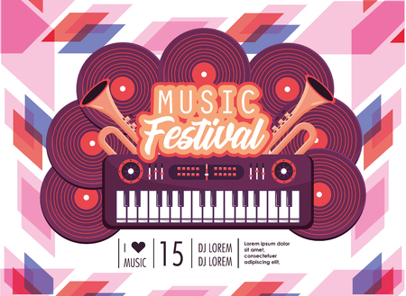 piano equipment to music festival celebration