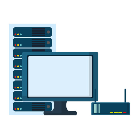 technology computing cartoon vector illustration graphic design
