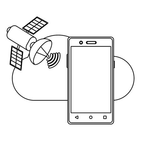 technology smartphone cartoon vector illustration graphic design
