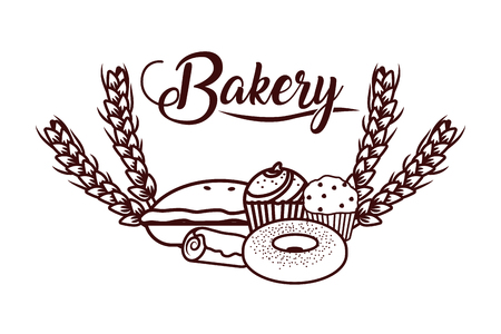 delicious bakery cartoon vector illustration graphic design