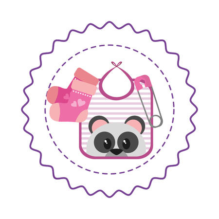 cute baby shower cartoon vector illustration graphic design