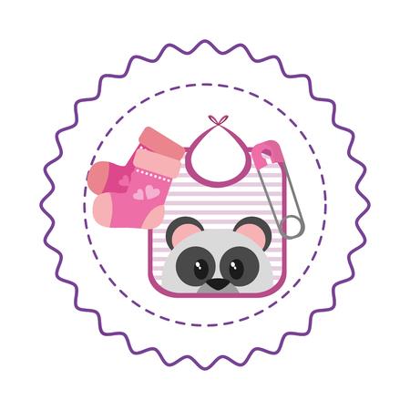 cute baby shower cartoon vector illustration graphic design
