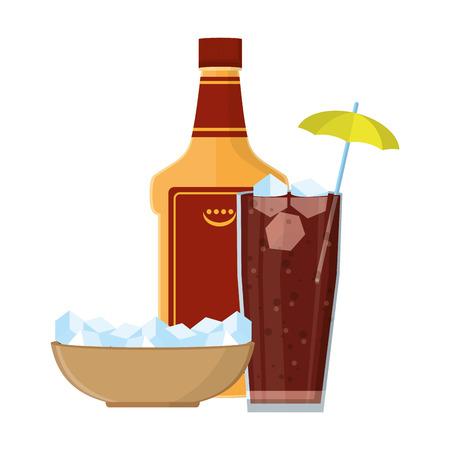 Bebida alcohólica dibujos animados ilustración vectorial diseño gráfico ilustración vectorial diseño gráfico