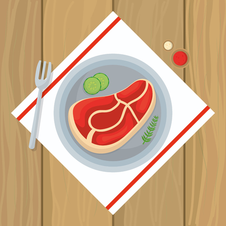 delicious food cartoon vector illustration graphic design 일러스트