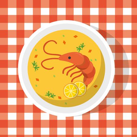delicious food cartoon vector illustration graphic design Stock Illustratie