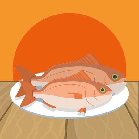 delicious food cartoon vector illustration graphic design Illusztráció