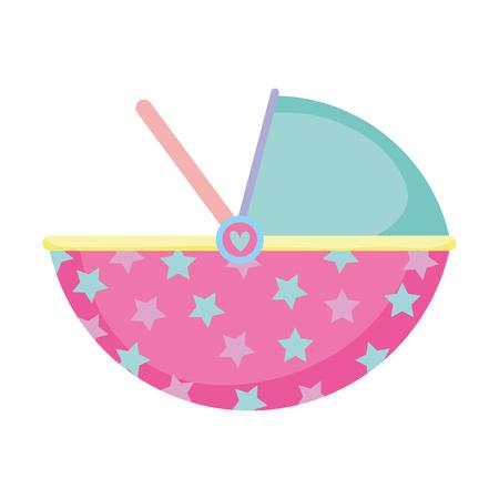 baby basket transport icon vector illustration design