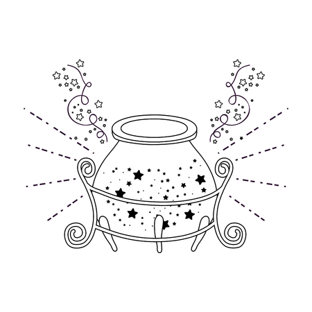 magic witch cauldron icon vector illustration design