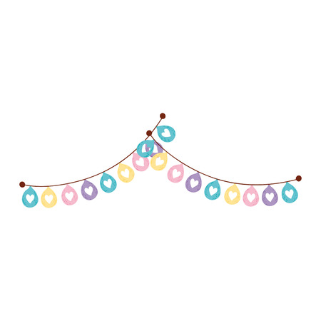 garlands party hanging icon vector illustration design Vectores