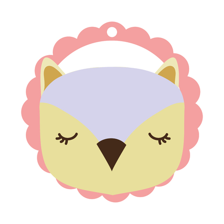owl only face pink vector illustration graphic design