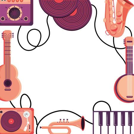 instruments frame design vector illustration graphic design Illusztráció