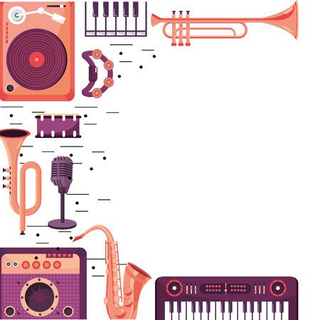 instruments frame design vector illustration graphic design Illustration