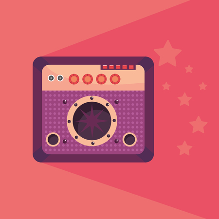 amplifier with stars colorful vector illustration graphic design