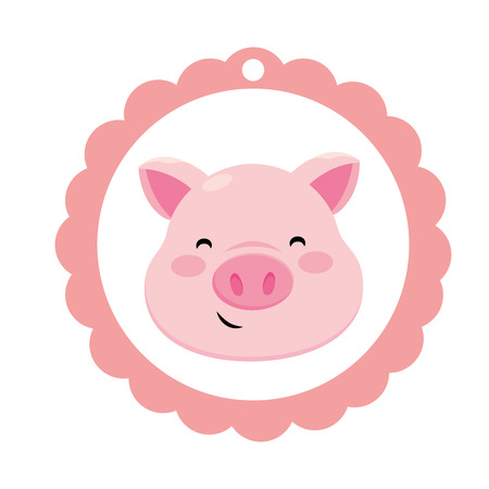 pig only face Stock Vector - 115349631