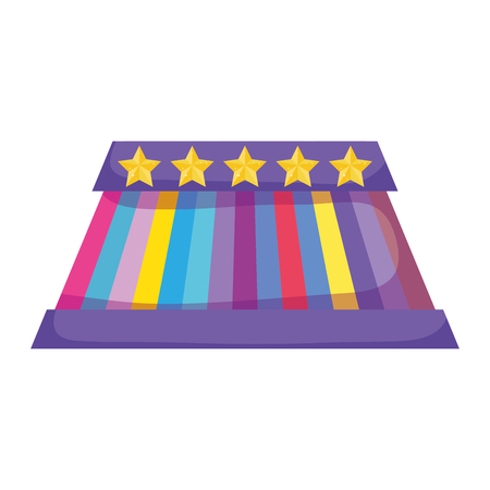 circus stage isolated icon vector illustration design