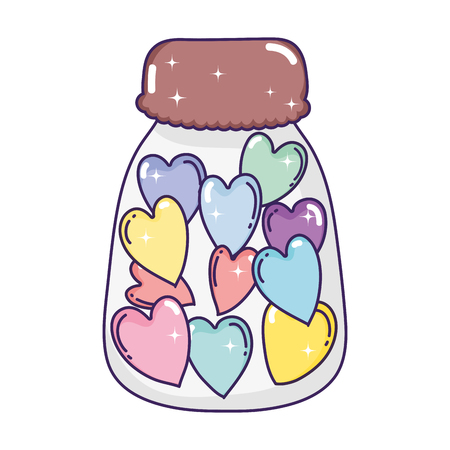 cute jar with love hearts