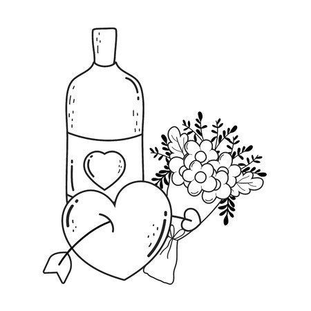 cute mason jar with love hearts