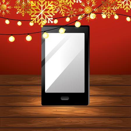 smartphone gift cartoon vector illustration graphic design Vector Illustratie
