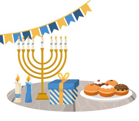 hanukkah party cartoon Çizim