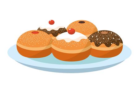 hanukkah party cartoon Ilustração