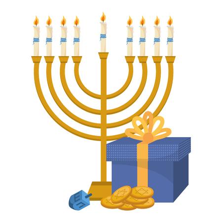 hanukkah party cartoon Ilustracja