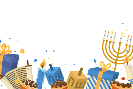 hanukkah party cartoon Illustration