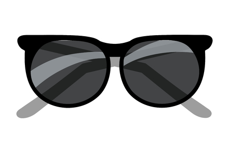 black sunglasses isolated white background cartoon vector illustration graphic design vector illustration graphic design